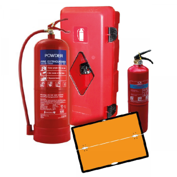Fire Extinguishers / Alarms, Fire boxes for Trucks, Powder Extinguishers, ADR Spec, Smoke Alarm, Gas Detectors