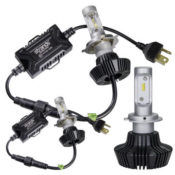 LED Headlight Conversion Kits, Car, Truck, Bus, Van, 12v, 24v, Super bright Ice White output, Fully Approved.