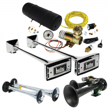 Truck Air Horns, Hadley Air Horns, Marco Air Horns, 24v. Airhorns. Cheapest Prices online.