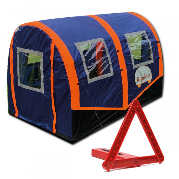 Roadside Rescue - Rigloo Rescue Shelter / BriteAngle LED Triangle, Be safe and be seen at the roadside