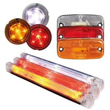 LED Marker Lamps for Trucks and Vans. 24v and 12v. In stock and available for next day delivery.