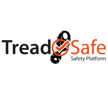 TreadSafe - Truck Chassis Catwalk System. Safety Platform approved by leading fleets with high visibility safety decals.