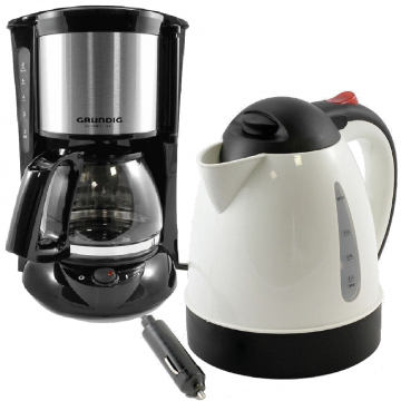 Truck Coffee Makers / Kettles. In Cab Coffee Maker, Soup, Tea, Hot Drinks. 24v.