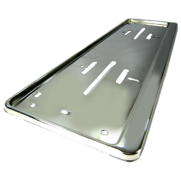 Truck Number Plate holders, stainless steel licence plate holder, chrome, LED framed number plates.
