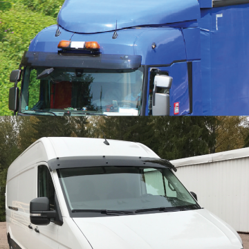Truck and Van Sun Visors Complete Kits, Spare parts, Acrylic, Made in Europe, All makes and Model, FREE UK Delivery.