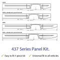Van side skirts side panels