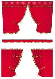 Red Low Roof Curtain Set