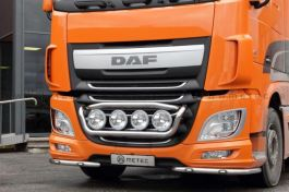 DAF XF 106 (Euro 6) Front Corner Bars (Pair). 2014 Onwards. Pre-Wired. With LED's.