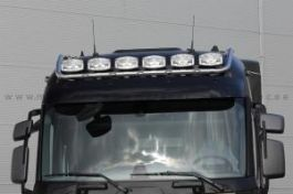 Renault T Range. High Roof Cab. Roof Light Bar. Pre-Wired. 6 Lamp Fixings. With White LED's.