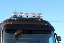 Renault T Range. High Roof Cab. Roof Light Bar. Pre-Wired. 5 Lamp Fixings. With White LED's.