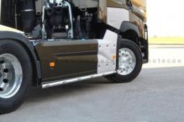 Renault T Range. Side Skirt Bars. 3800mm. With Amber LED's. (Pair)