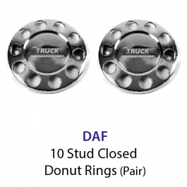10 Stud Wheel Nut Covers (Donut) with DAF to centre