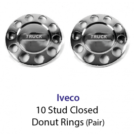10 Stud Wheel Nut Covers (Donut) with Iveco to centre