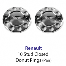 10 Stud Wheel Nut Covers (Donut) with Renault to centre