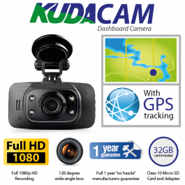 SPECIAL OFFER! KudaCam GPS Dashboard Camera. DashCam. 1080P HD. 32GB.