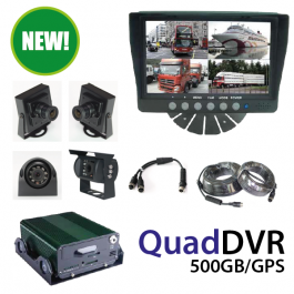 4 Camera Monitoring, Recording, Truck DVR System. 500GB GPS.
