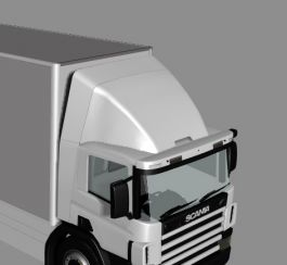 Scania 4 Series Day Cab Fixed Top Spoiler