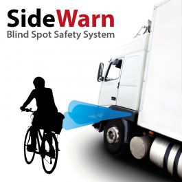 Blind Spot Detection System. Truck TFL Safety Cyclist Sensor
