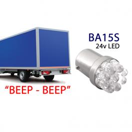 BA15S Reversing Truck Bulb LED 24v (White)