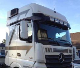 Mercedes Actros BigSpace / GigaSpace (2012-) Sunvisor with Integrated Light Slots
