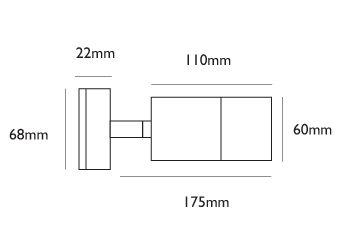 Smartspot 240v - Black Anodised Aluminium IP65 GU10 - Adjustable Spot Wall Light - In 6 Colours and 12v and 240v