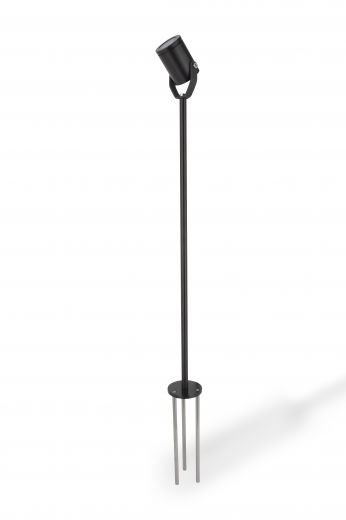 LV Triple Spike Extension  Pole spike light, IP68, in 316L Stainless Steel - or Black. Made to order up to 4 weeks