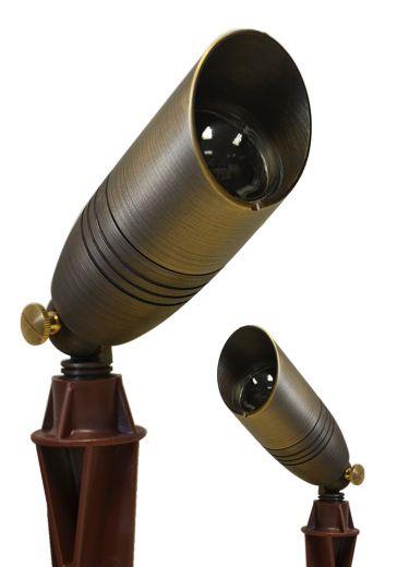 Director 12v - Brass Rustic Bronze Finish IP54 MR16 Spike Light - Plug & Play