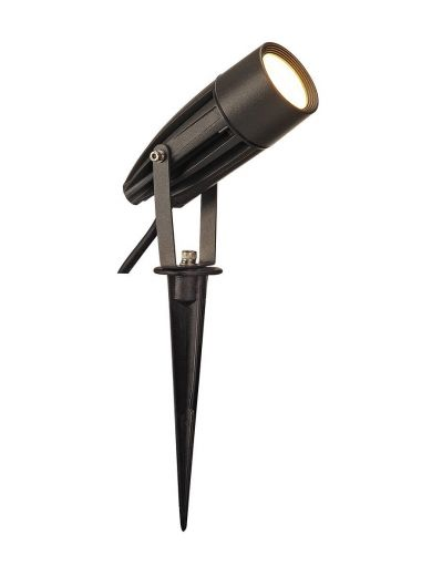SYNA - Aluminium Athracite Finish IP55 220-240v 8.6w 3000k 470 Lumens Spike Spotlight Also In Grey, Green & Rust
