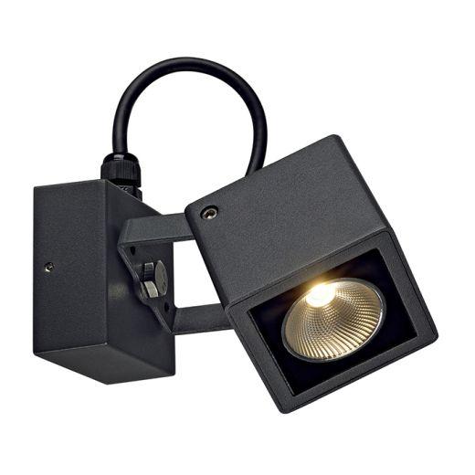 Nautilus 240v - Anthracite Aluminium 9w 3000k 520 Lumens IP54 Security Wall/Flood Light 180 Degree Rotation