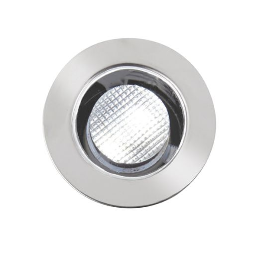 Ikon 12v DC - 30mm Kit IP67 0.45w 6500 Daylight White - Recessed - 304 Polished Stainless Steel