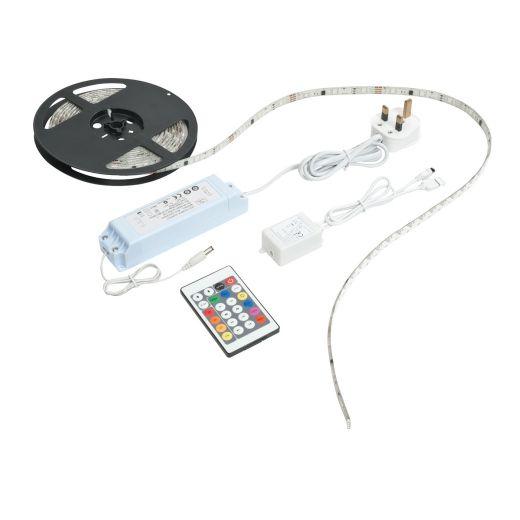 Aqualine 12V premium 5m RGB kit IP44 24W SW RGB
