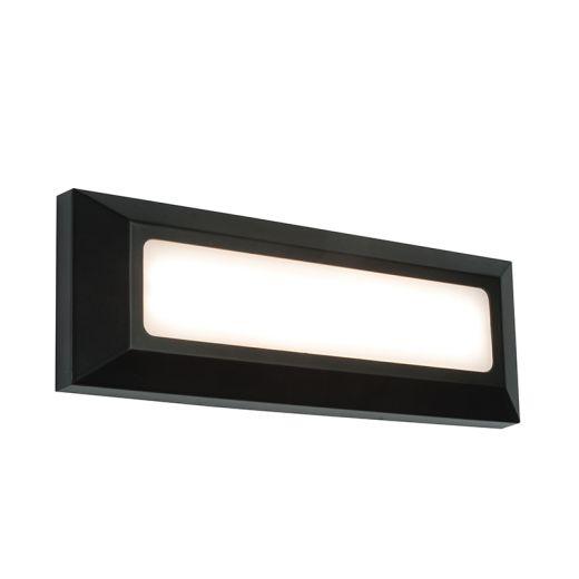 Severus landscape direct IP65 3W warm white wall - black abs plastic - 220- 240v