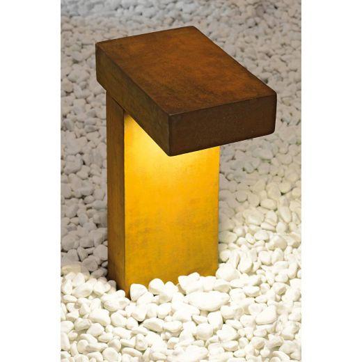 Rusty Pathlight - Rusted Iron - FeCSi Steel IP55 8.9w 3000k 220-240v 400 Lm 40cm - Surface or Spike Bollard - 2 Heights