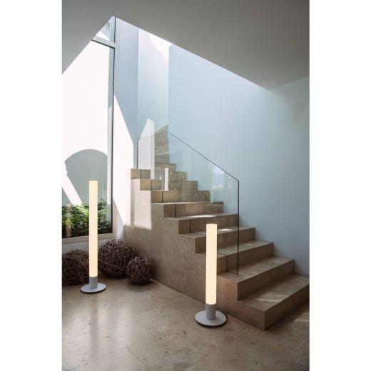 LIGHT PIPE - White IP55 11w 2700k 220 - 240v 630 Lumens 1.4m Tall - Designer Bollard - Choice Of 3 Heights