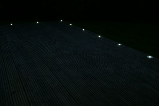 Solar LED Cycle Route Delineator - white steady -  Minimum order is 20. Ordered in multiples of 20