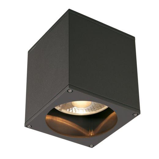 Big Theo - 240v Anthracite Aluminium & Glass Max 75w QPAR111 GU10 IP44 Surface Ceiling Light - Choice Of 3 Colours