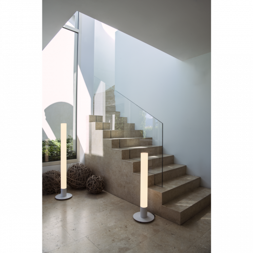 LIGHT PIPE - White IP55 11w 2700k 220 - 240v 630 Lumens 60cm Tall - Designer Bollard - Choice Of 3 Heights