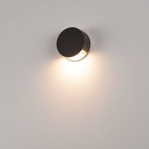 Pema LED Wall Light, 240v Anthracite Surface LED Light, Mains, 4.7w, 3,000k, 125 Lumens, IP44
