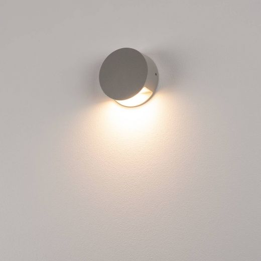 Pema LED Wall Light, 240v Grey Surface LED Light, 4.7w, warm white, 3,000k, 125 Lumens, IP44