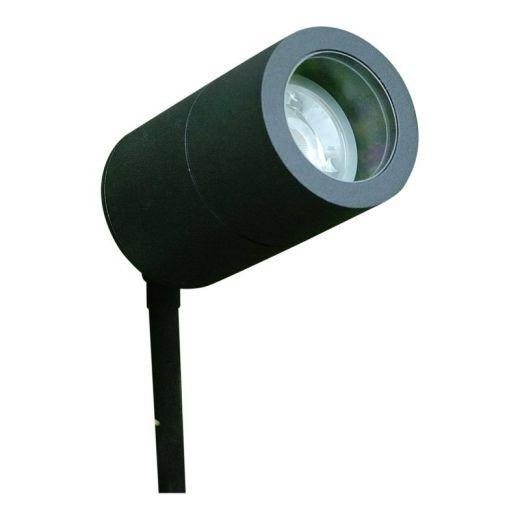 Compact Black Powder Coated 12v - Aluminium IP65 MR16 Spike Spotlight