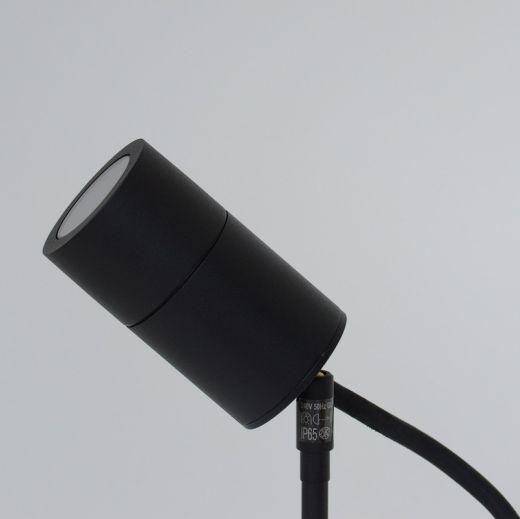 Compact Black Powder Coated 240v - Aluminium IP65 GU10 Spike Spotlight
