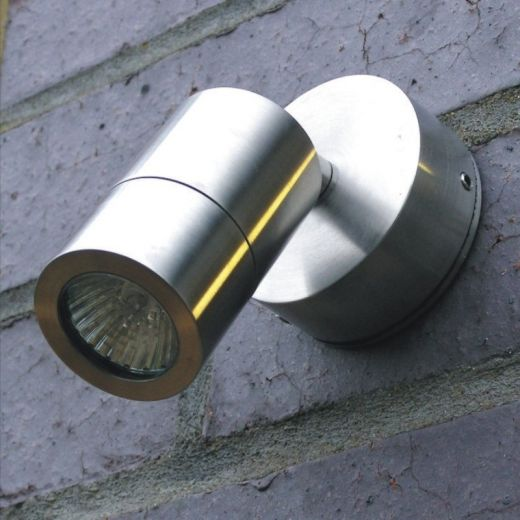 Elipta, adjustable, micro garden wall light, 316 stainless Steel, 12v- MR11, IP65