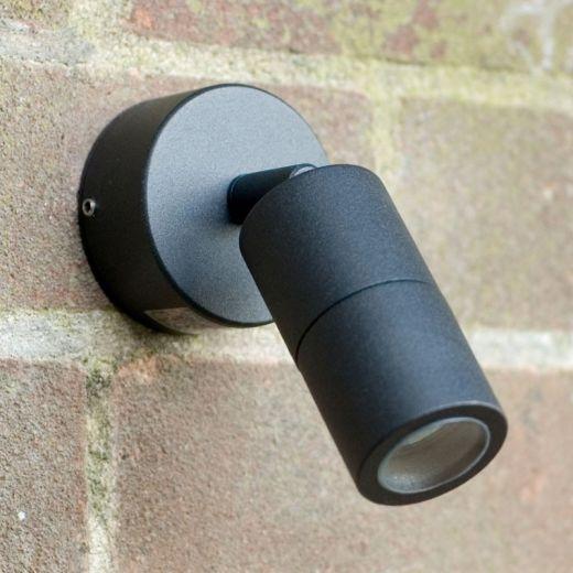 Microspot 12v - Black Powder Coated Aluminium IP65 MR11 - Adjustable Spot Wall Light - Choice Of 3 Colours