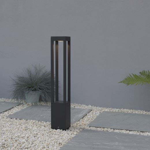 Matrix - Graphite Grey IP54 5w 3000k 220-240v 356 Lumens 650mm Height - Surface or Spike Mounted Bollard Light