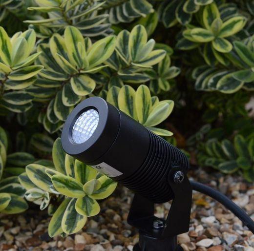 Spike8 Black 12v 8w 2700k 640 Lumens IP67 36 Degree Beam Angle Spotlight Available in Anthracite