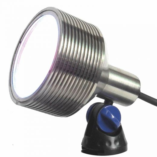 Luxes - Underwater Light - 12v - Nickel Plated Brass Body - IP68 24W 3000k Warm White 750 Lm. Plug & Play