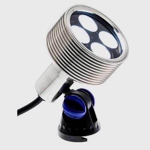 Brilliance - Underwater Light - 12v - Nickel Plated Brass Body - IP68 8W 3000k Warm White 330 Lm. Plug & Play