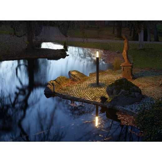 Pole Parc - Anthracite IP44 50w 3000k 100 - 240v 2600 Lumens 2.0m Height - Surface Bollard - Choice Of 3 Heights
