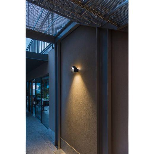 RASCALI WL  - 240v Anthracite Aluminium 8w 3000k - 330 Lumens IP54 - Wall Light
