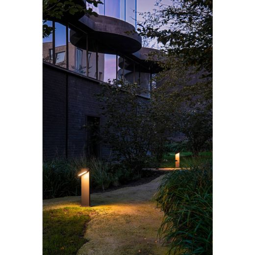 Abridor - Anthracite IP55 14w 750 Lumens 100 - 277v Switchable 3000k/4000k 60cm Height - Path Light 2 Heights